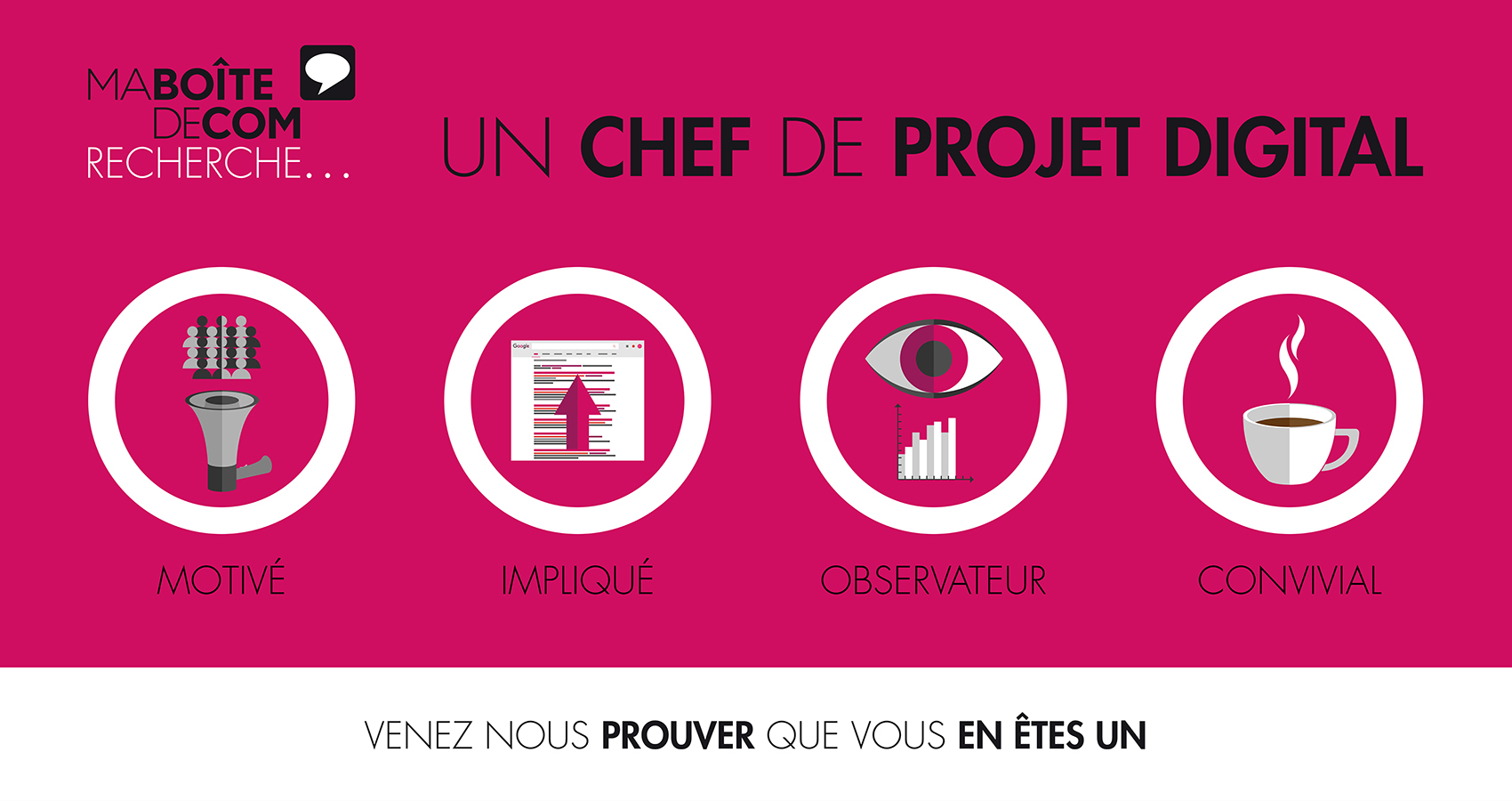 Wanted : Chef de projet digital